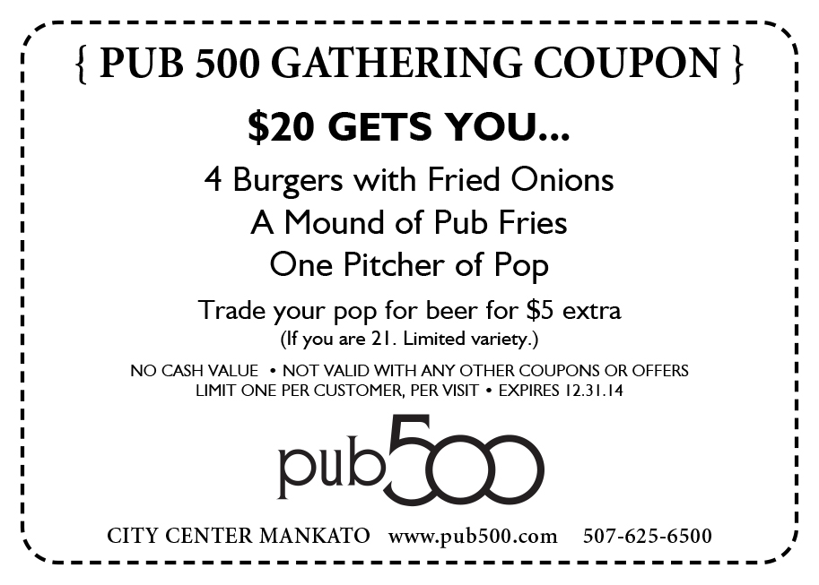 The pub coupons
